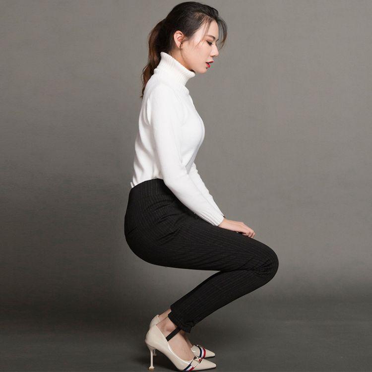 2018新款羽绒裤女外穿 时尚保暖棉裤大码中老年羽绒裤批发