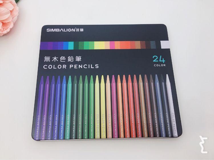 雄狮无木色铅笔儿童绘画美术彩色铅笔无木彩铅手绘涂鸦笔