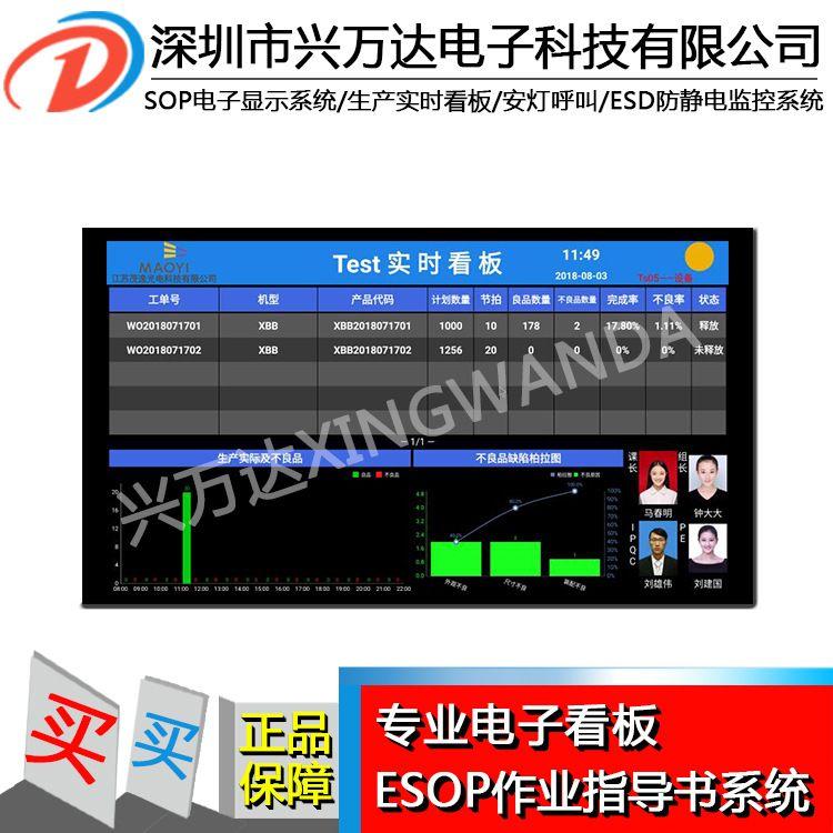 热销SOP管理系统/电子化SOP作业指导书看板系统/生产线解决方案