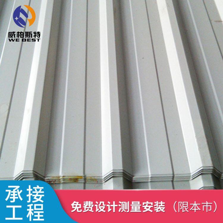 单面彩钢板 围挡彩钢板墙面 瓦楞保温材质