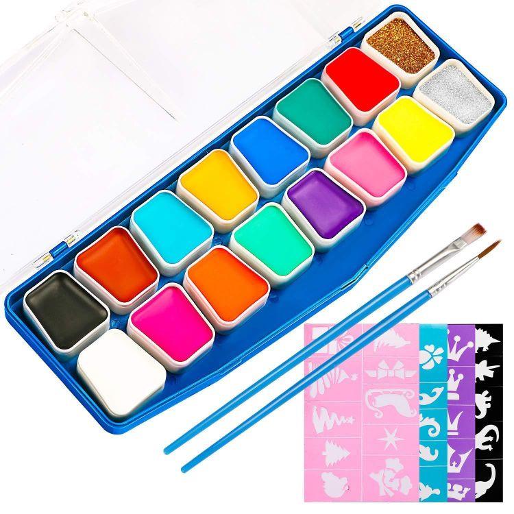 厂家直销儿童脸彩蜡笔彩绘笔 环保无毒 低过敏性 节日气氛 现货