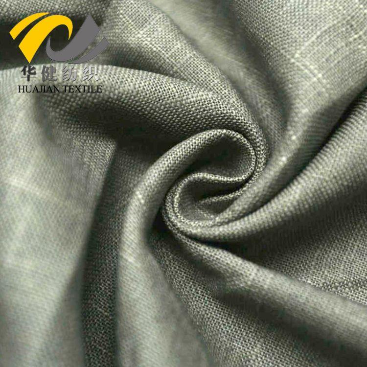 现货供应 竹节麻布面料 烫金贴银 特色工艺 活性染色  装饰布桌布