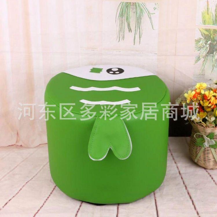 供应圆凳布艺水果小圆凳 创意卡通脚凳矮凳 简约客厅沙发换鞋凳