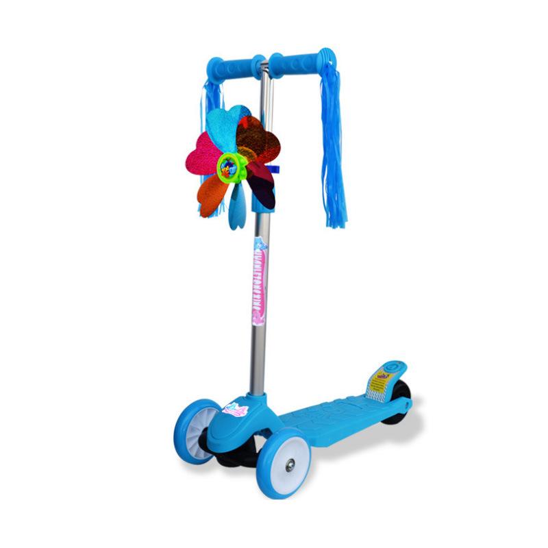 儿童滑板车 冲浪踏板滑行车闪光三轮四轮升降调节男女孩童车玩具