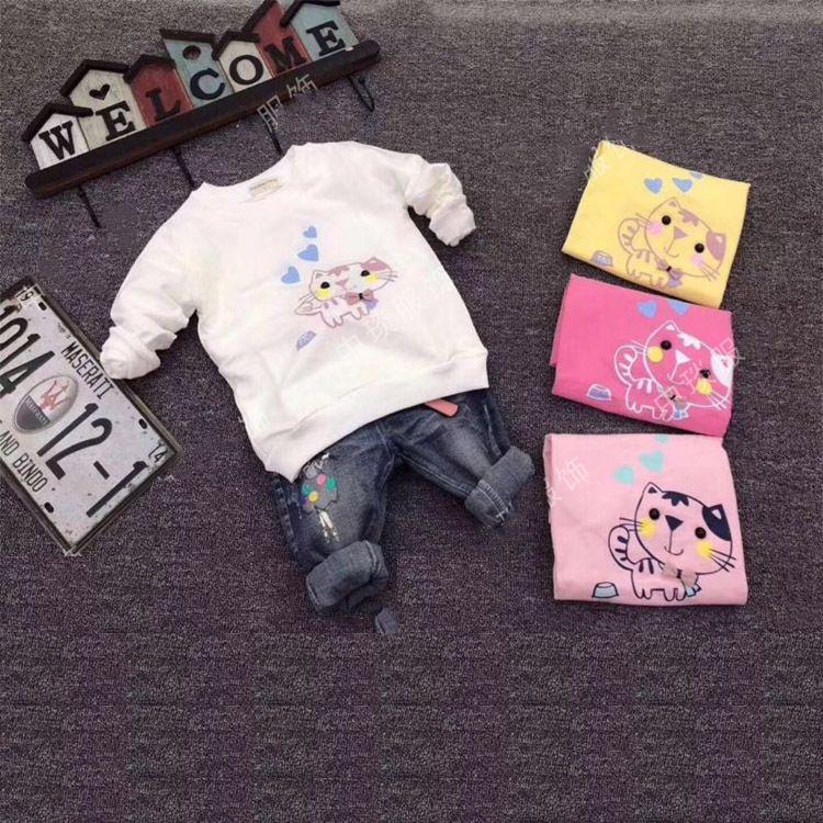 韩版冬季新款卫衣 圆领套头卫衣 加绒保暖长袖中小童卫衣