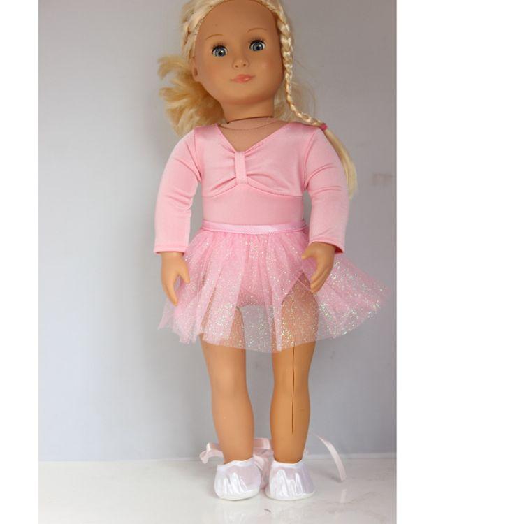 18寸美国女孩娃娃衣服 American girl doll clothes 芭蕾舞裙鞋子