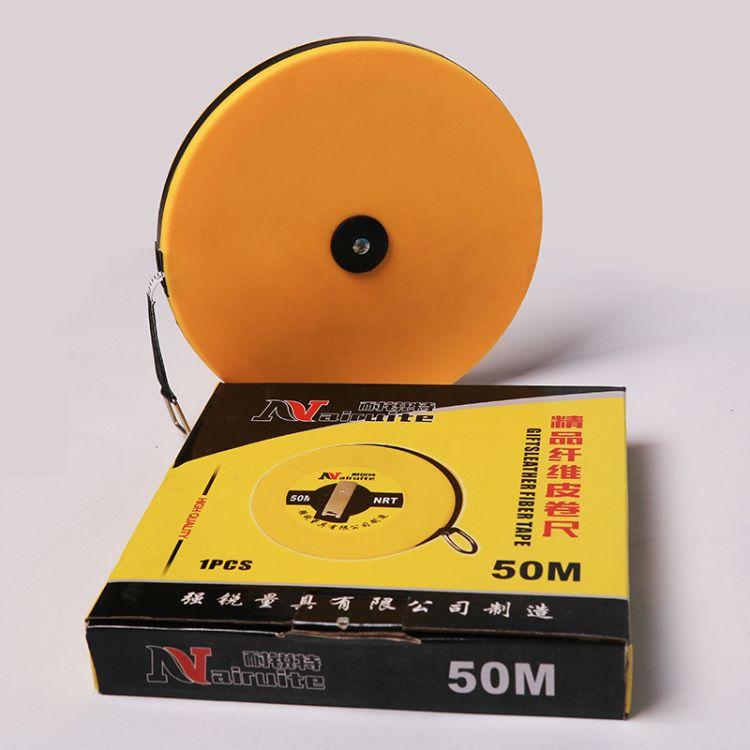 现货供应自产自销户外工程测量纤维尺 圆盘卷尺尺 纤维卷尺