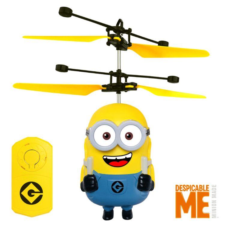 正版小黄人感应飞行器感应飞机遥控直升飞机儿童玩具热卖玩具批发
