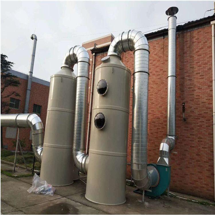 净能厂家定制生产 PP喷淋塔环保设备 除臭塑料废气处理设备脱硫洗涤塔