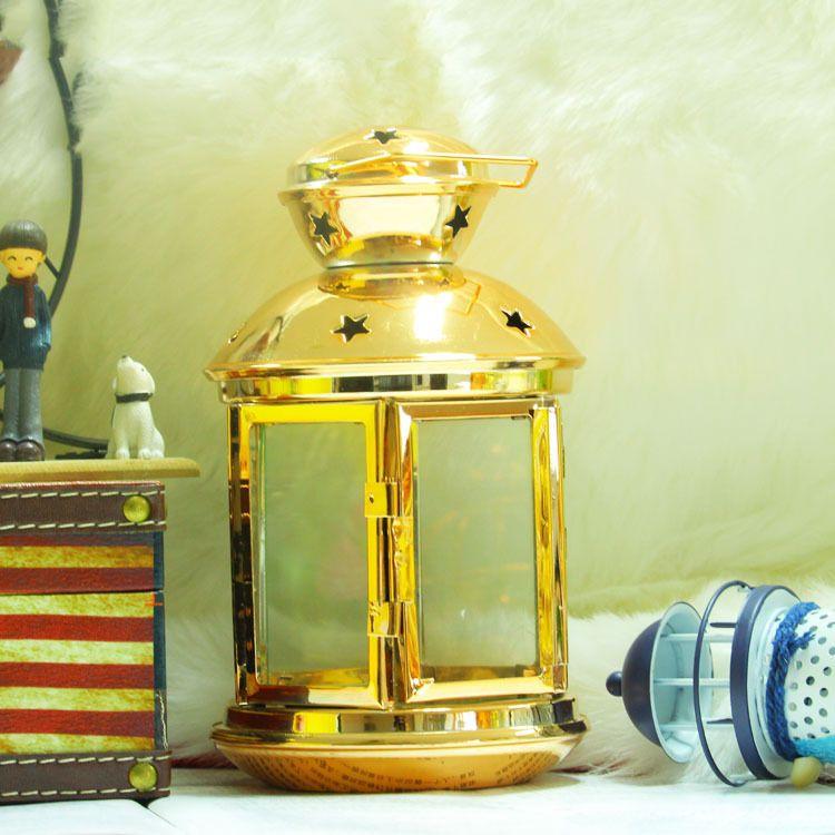 欧式简约玻璃铁艺烛台 落地马灯风灯 金属婚庆铁艺道具家居工艺品