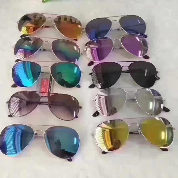 跑江湖地摊飞行员同款眼镜 新款男士太阳镜混批 女士墨镜厂家直销