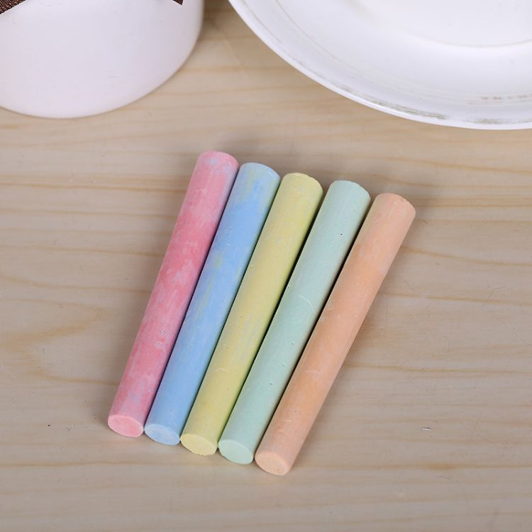 厂家直销100支装彩色无尘粉笔 儿童绘画粉笔老师用教学用具批发