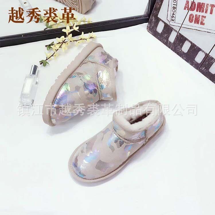 特价销售高品质保障豹纹迷彩雪地靴女鞋 保暖防滑耐磨 量大从优