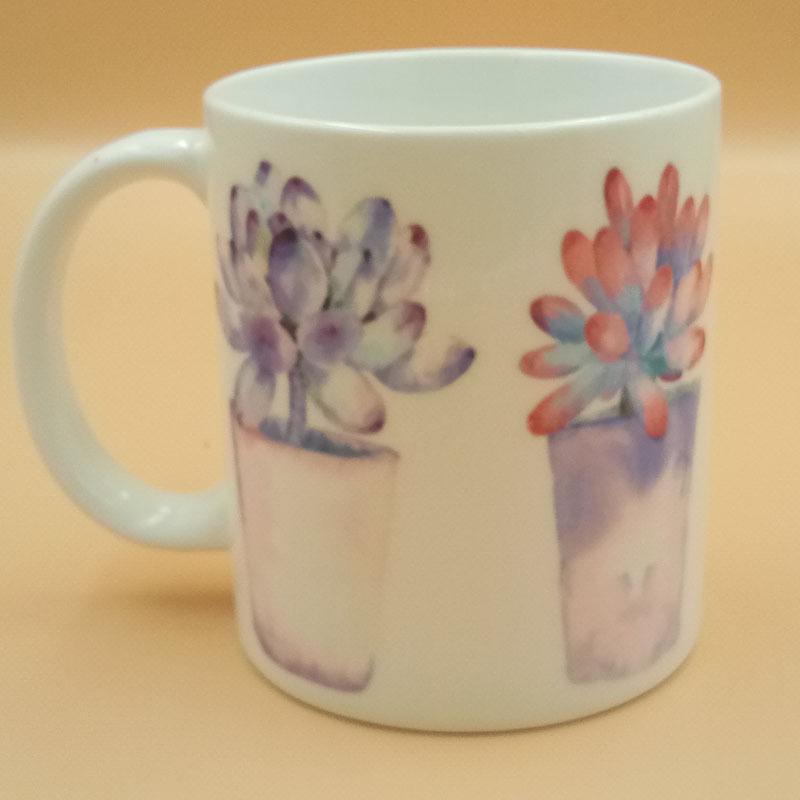 多肉陶瓷杯 水杯创意个性杯子广告礼品杯 陶瓷酒店杯子定制加LOGO