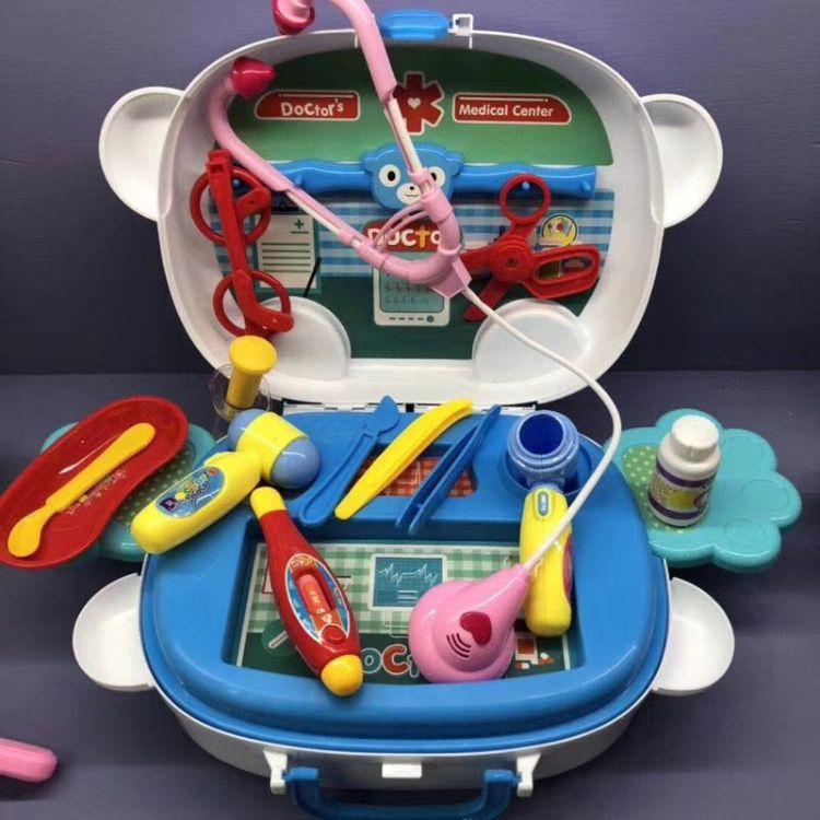 悦辉时尚梳妆台手提旅行箱女化妆打扮饰品首饰头饰儿童过家家玩具