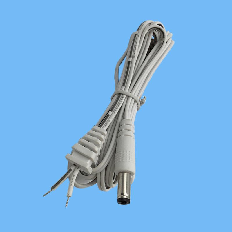 厂家直销5525dc电源线 dc单头线带SR尾卡适配器电源线加工定制