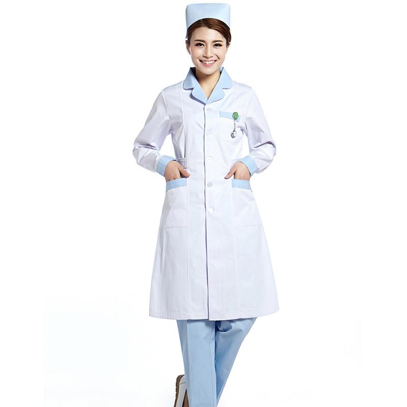 护士服上下圆领 长袖医生服 实验服卫校实习生工作服