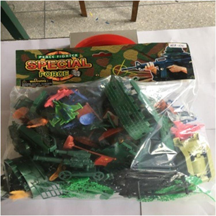 批发二战沙盘场景坦克导弹碉堡栅栏兵人武士玩具军事模型沙盘