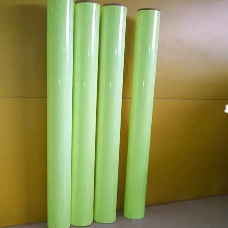 厂家直销可印刷喷绘写真夜光膜 绿光PET蓄光膜刻字PVC发光膜