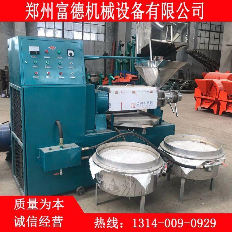 温控型棉籽榨油机 多功能葵花籽榨油机厂家 全自动粮油螺旋压榨机