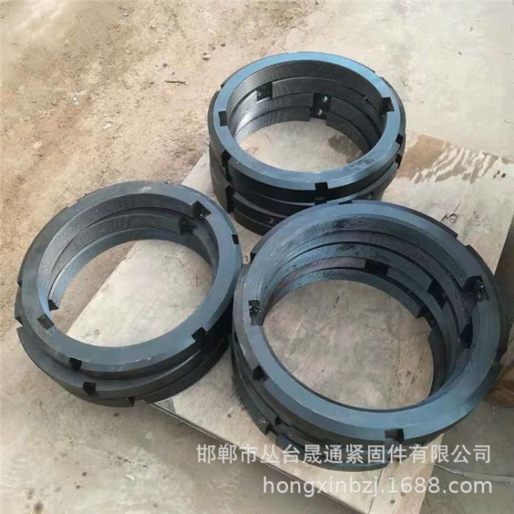 定制非标锁紧圆螺母 按图加工细牙高强圆螺母 GB812-1998圆螺母