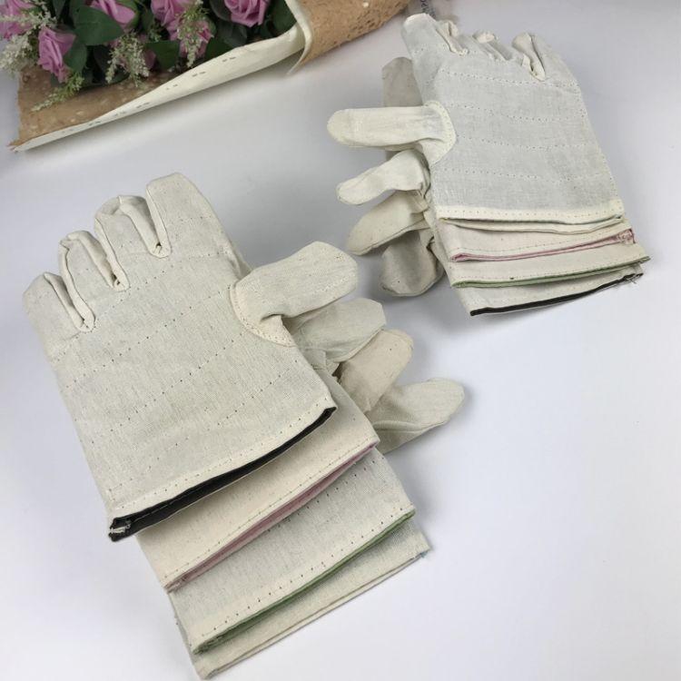 双层帆布手套 劳保电焊防护手套 超级耐磨加厚甲布手套
