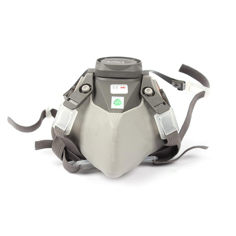 3M 6200 半面型喷漆装修化工劳保防护面罩防护面具(中号) 24个/箱