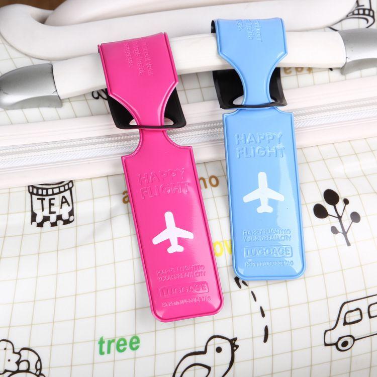跨境亚马逊 韩版PVC飞机行李牌登机牌旅行行李吊牌箱包配件批发