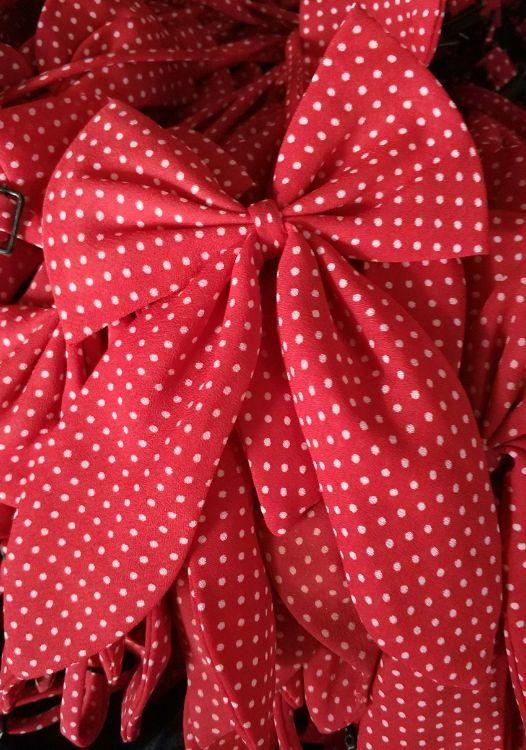 新款滌絲紅色成人女式蝴蝶結職業裝領花
