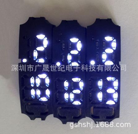 现货批发LED红白灯手环 手环 镜子表小长方 方形 熔岩LED电子机芯