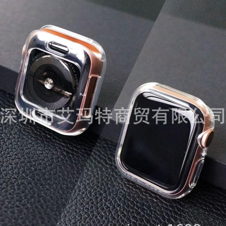 适用苹果i watch4硅胶套全包屏超薄手表壳iwatch3高透明TPU保护套