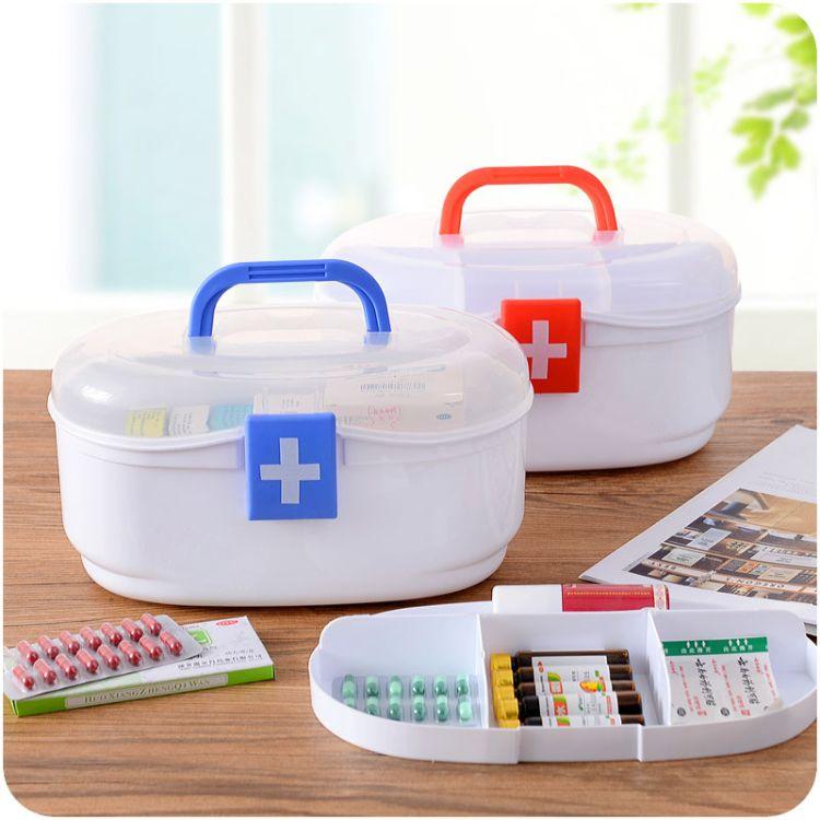 2016新品广告赠品医 药箱 塑料收纳盒家居救急箱可印刷LOGO