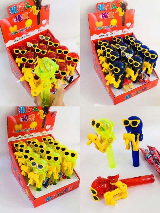 圣诞节糖果网红抖音同款糖僧星空棒棒糖机械人玩具小零食礼物手工