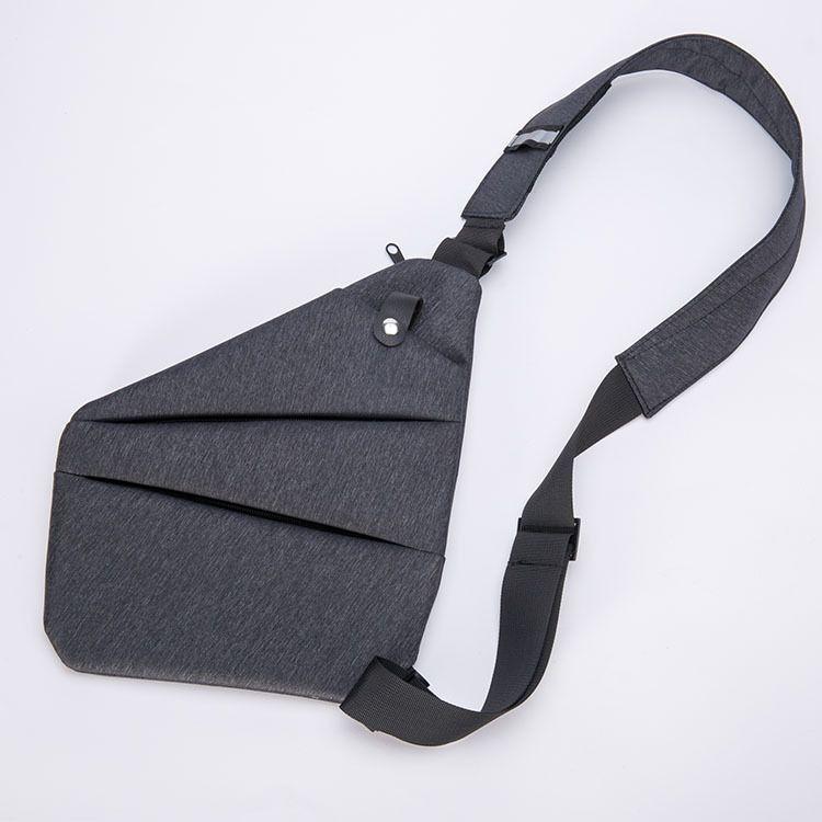 数码斜跨收纳枪包男士个性多功能运动休闲胸包防盗腋下包