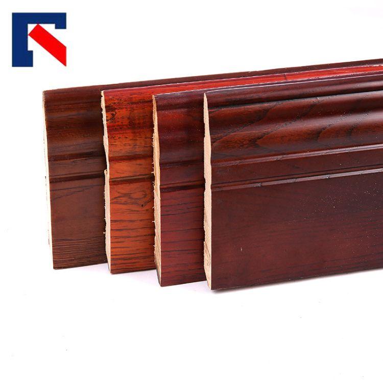 12公分栎木仿古实木踢脚线 橱房客厅墙贴墙角线 木地板脚线