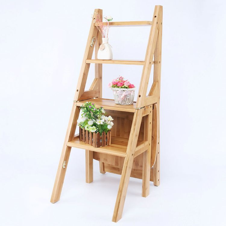 置物登高多功能木质梯凳定制 木梯子凳 简约家用双侧梯凳厂家供应