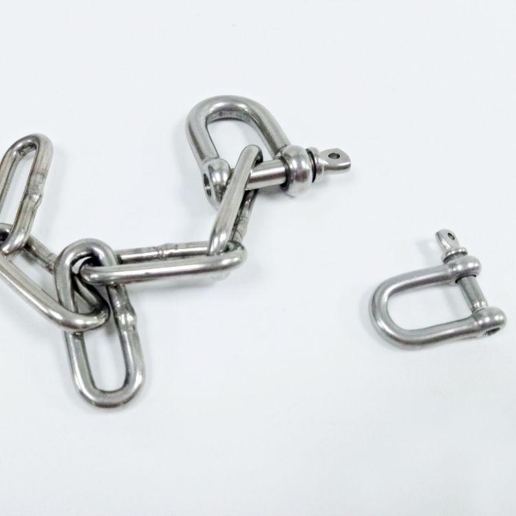 不锈钢D型卸扣4mm 链条链接扣 规格可定制 供应保品质扣 直销