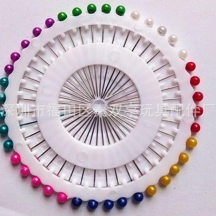 彩色珍珠大头针手工DIY制作小工具定位珠针固定服装针织用珠针