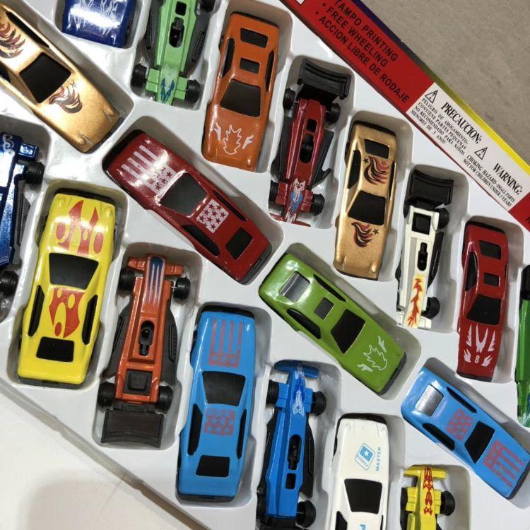 合金小汽车20只彩盒礼盒20辆儿童玩具车模型惯性小汽车 团购代发