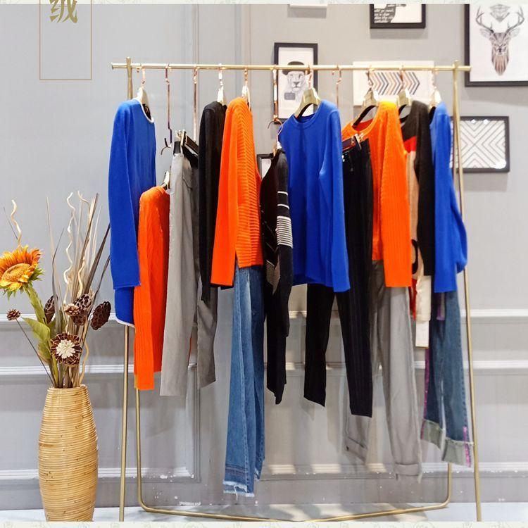 庐扬绒情女装折扣品牌新款时尚羊绒毛衣尾货货源市场