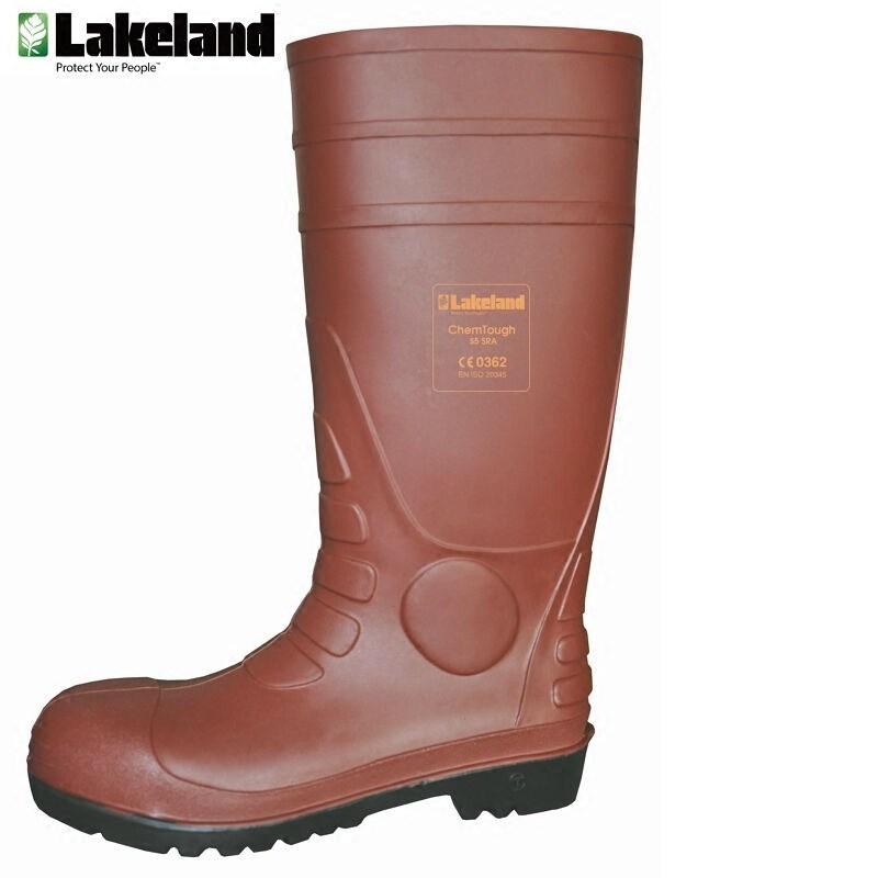 雷克兰化学防护靴耐酸碱水鞋 化工靴 安全鞋 防护防滑鞋底工业靴