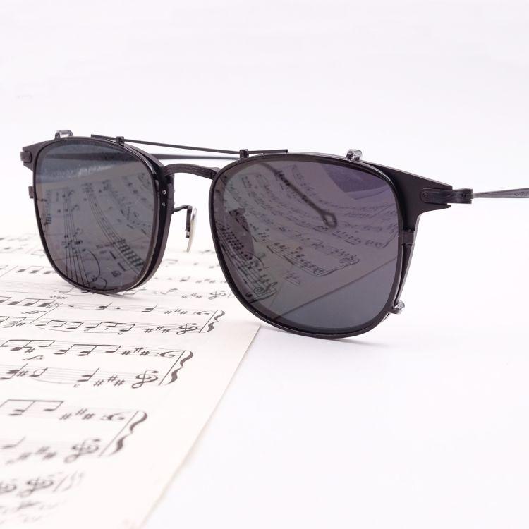 新款复古MADNESS 联名眼镜余文乐眼镜挂镜 超轻金属太阳镜镜片眼
