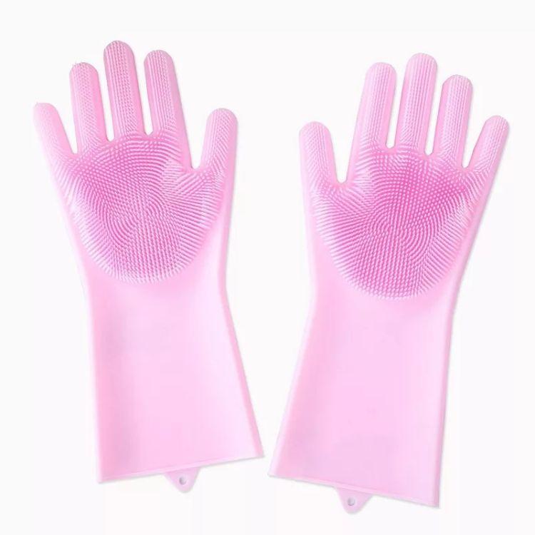 抖音魔术洗碗手套女神器硅胶加厚耐用多功能清洁家务厨房刷碗防烫