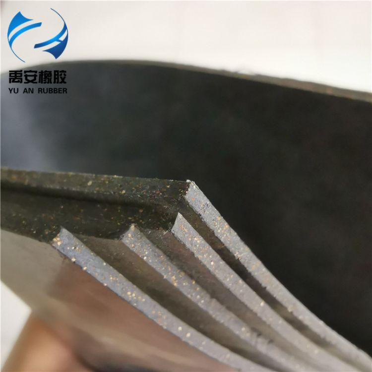 厂家直销铁路地铁丁腈软木橡胶板 盾构管片环缝软木橡胶传力衬垫