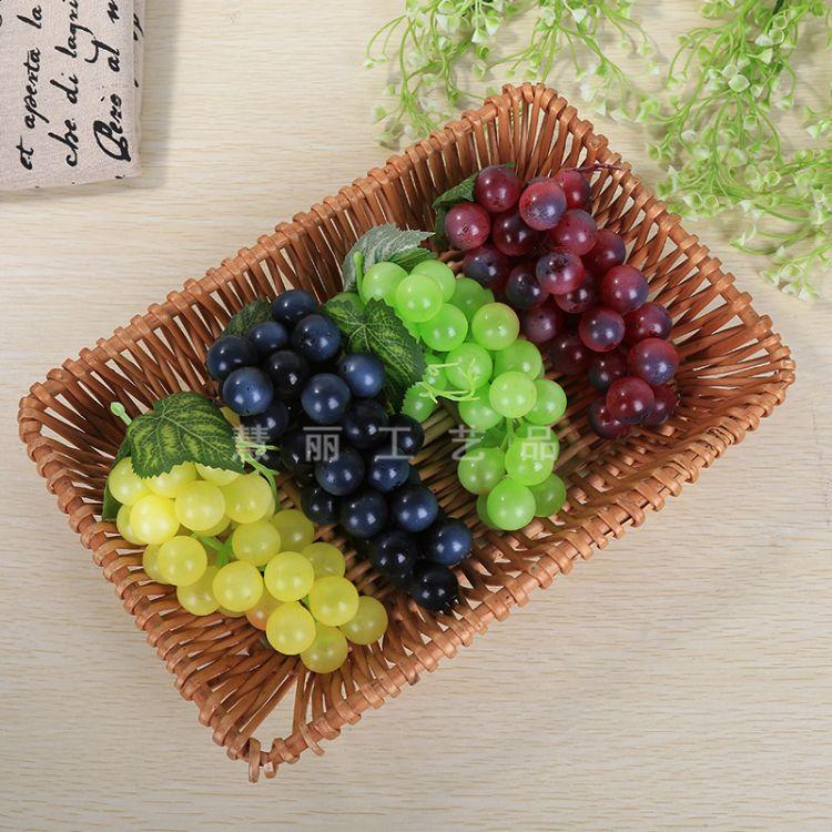 仿真葡萄提子串 仿真藤条水果拍摄道具
