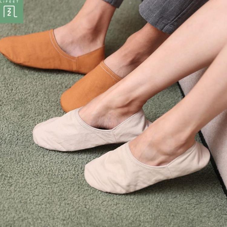 QL25绿风四季情侣棉拖鞋低包跟居家室内地板静音棉布舒适拖鞋男女