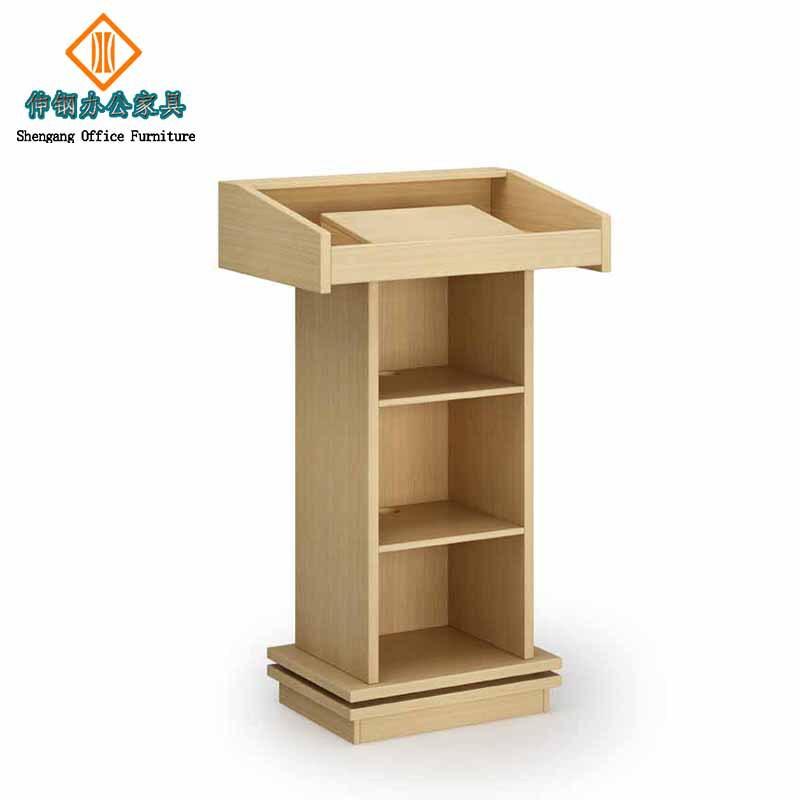 木制演讲桌主席发言台大堂时尚迎宾台学校木质桌办公家具可定制