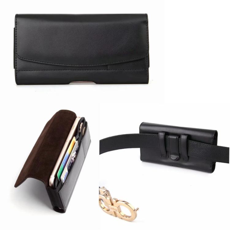 手机通用型插卡皮套iphone8 4.7寸/5.5寸平纹横款腰夹钱包保护套