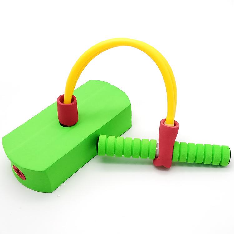 跨境儿童幼儿园早教团队运动健身青蛙跳弹跳鞋有声玩具跳杆器材