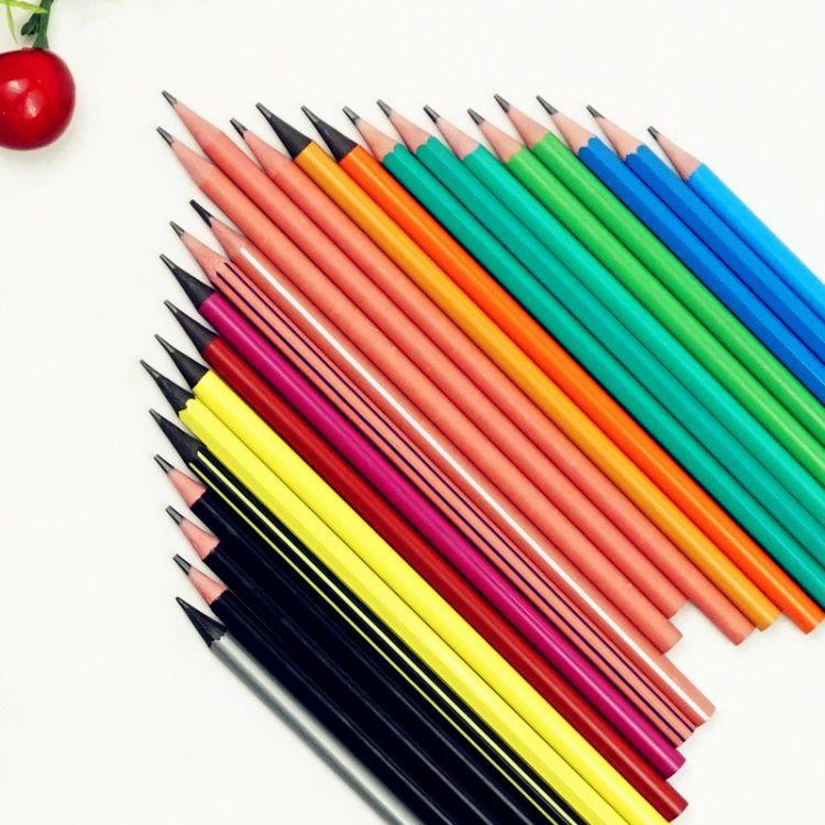 黑色铅笔 全塑环保铅笔 绘图铅笔 儿童幼儿园小奖品礼物学习用品
